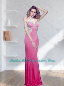 Fashionable Appliques Bateau Floor Length Bridesmaid Dresses for 2015