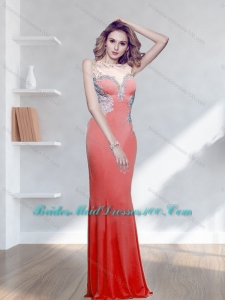 Perfect 2015 Appliques Watermelon Bridesmaid Dresses with Bateau