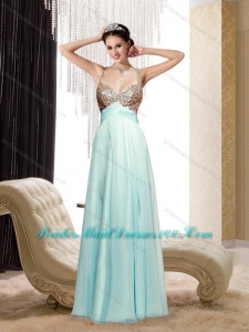The Most Popular Spaghetti Straps Sequins 2015 Bridesmaid Dresses with Criss Cross