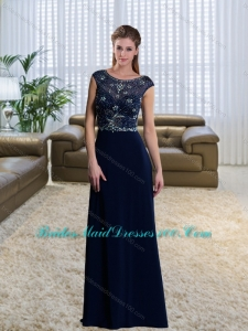 The Most Popular Scoop 2015 Sequins Sexy Bridesmaid Dresses with Brush Train