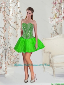 Beading and Ruffles Group Buying Bridesmaid Dresses in Spring Green for 2015