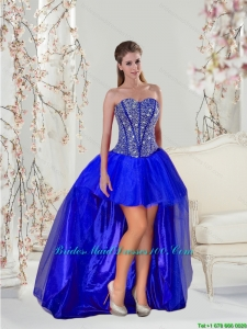 Royal Blue Group Buying Bridesmaid Dresses with Beading