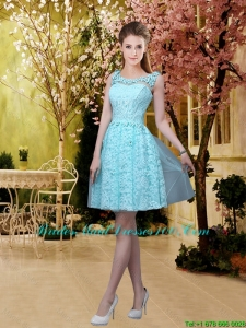 Discount A Line 2016 Short Bridesmaid Dresses with Appliques