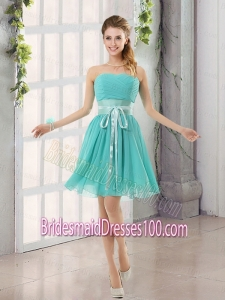 Perfect Belt Ruching Sweetheart A Line Bridesmaid Dress for 2015