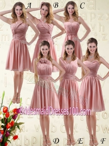 Romantic Sweetheart Empire Chiffon Bridesmaid Dresses with Ruching