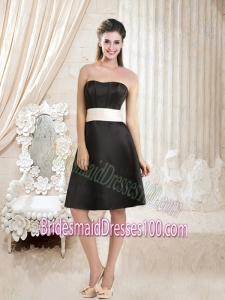White and Black Sweetheart A Line Bridesmaid Dress for 2015