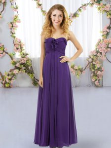 Purple Sweetheart Lace Up Ruffles Wedding Party Dress Sleeveless