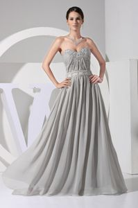 Sweetheart Ruched Appliqued Beaded Cheap Bridesmaid Dresses