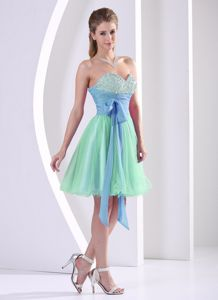 Beaded Sweetheart Muti-color Young Bridesmaid Dresses with Sash