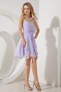 Asymmetrical Chiffon Lilac Strapless Bridesmaid Dress under 100