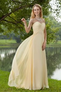 Hot Sale Champagne Empire Sweetheart Bridesmaid Dress Online