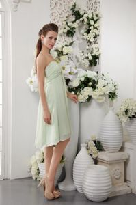 Sweetheart Apple Green Empire Knee-length 2013 Bridesmaid Dress