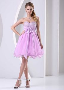 Beaded Sweetheart Sash Short Knee-length Bridesmaid Dress